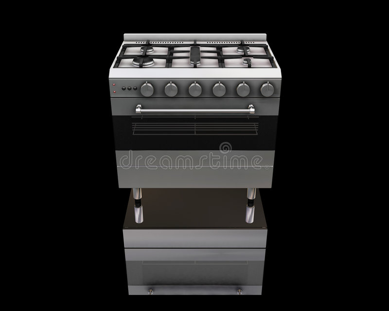 Oven royalty free illustration