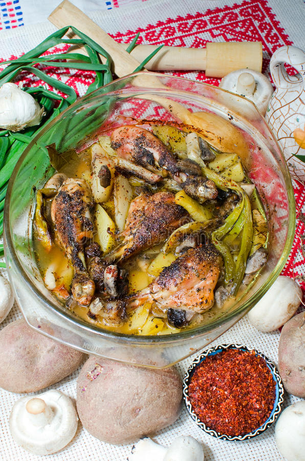 Oven Baked Chicken Royalty Free Stock Images