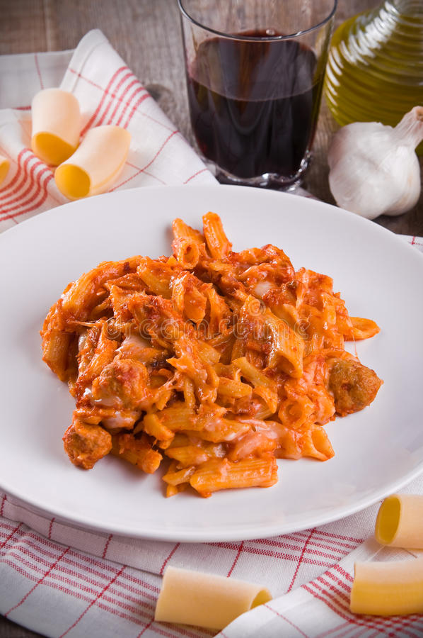Download Oven baked pasta. stock image. Image of baked, nutrition - 28222931