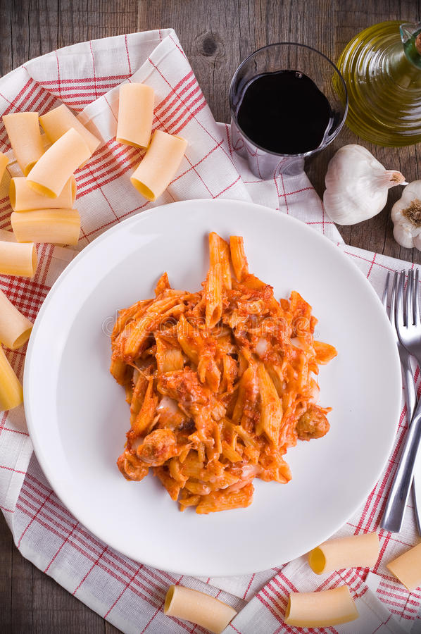 Download Oven baked pasta. stock photo. Image of nutrition, glass - 28223026