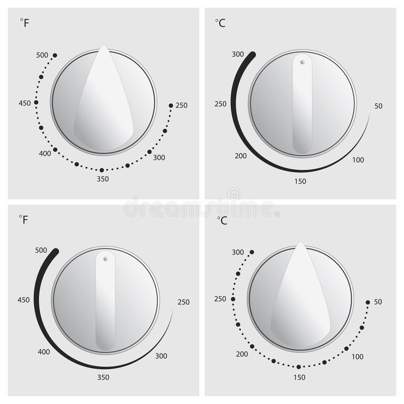 Oven Dial Vector stock illustration