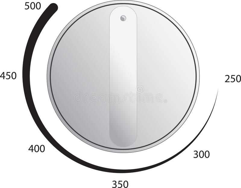 Oven Dial Vector royalty free illustration
