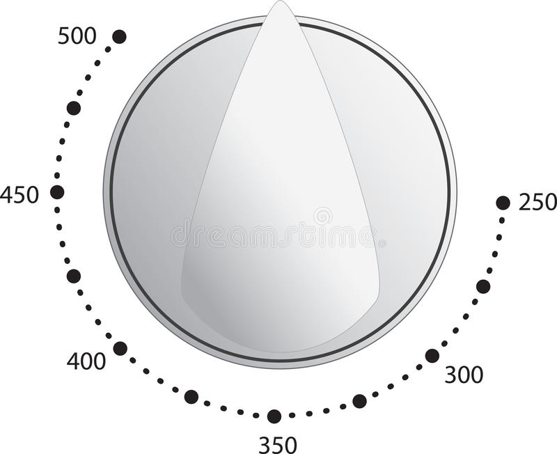 Oven Dial Vector vector illustration