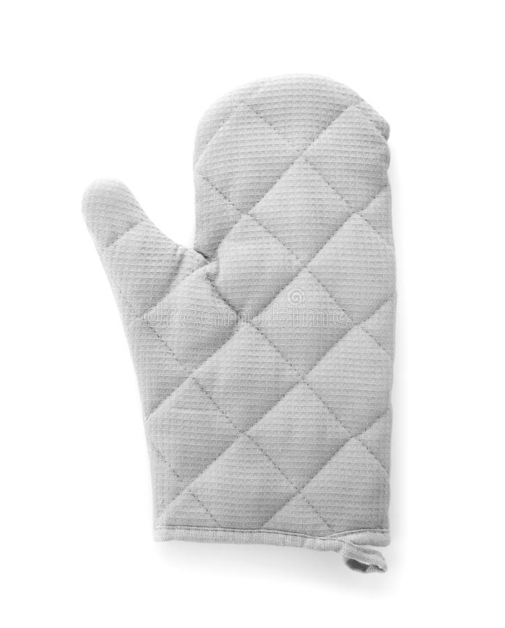 Oven glove for hot dishes isolated on white royalty free stock image