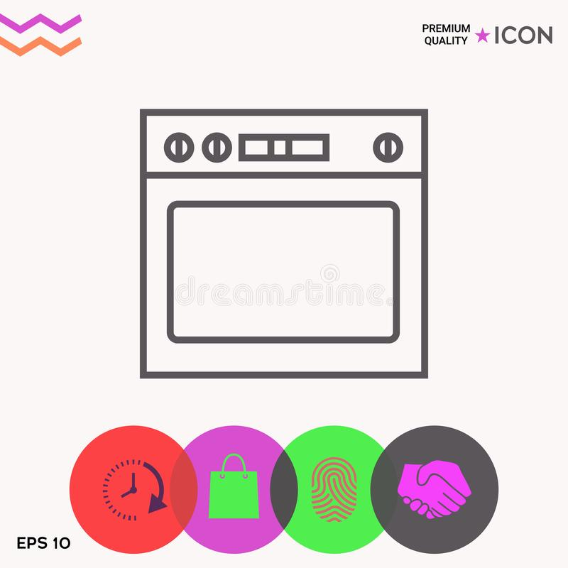 Oven linear icon stock illustration