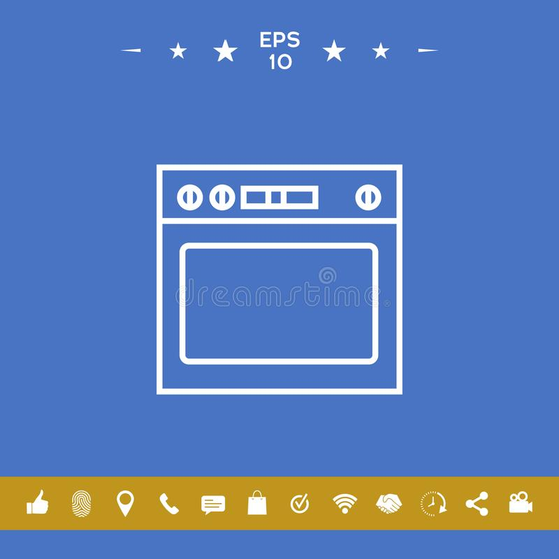 Oven linear icon vector illustration
