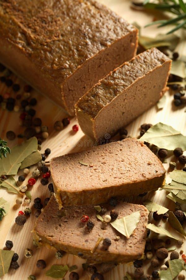 Oven liver pie stock photo
