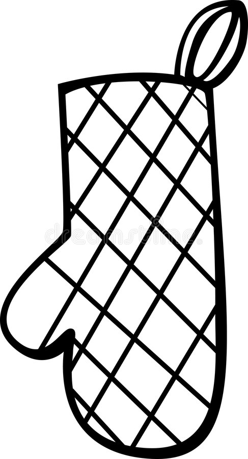 Oven Clip Art ~ Oven mitt or glove vector illustration stock