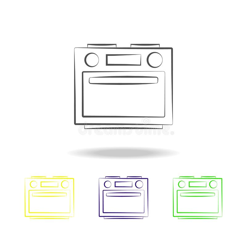 oven multicolored icons. Element of electrical devices multicolored icons. Signs, symbols collection icon can be used for web, log stock illustration