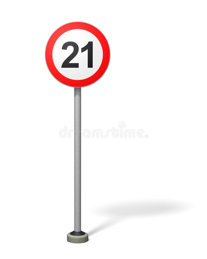 Over-21 Age Limit stock illustration
