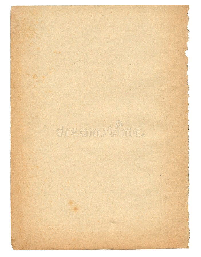 Download Over 50 Years Old Paper Page Stock Image - Image of copy, grunge: 2244657