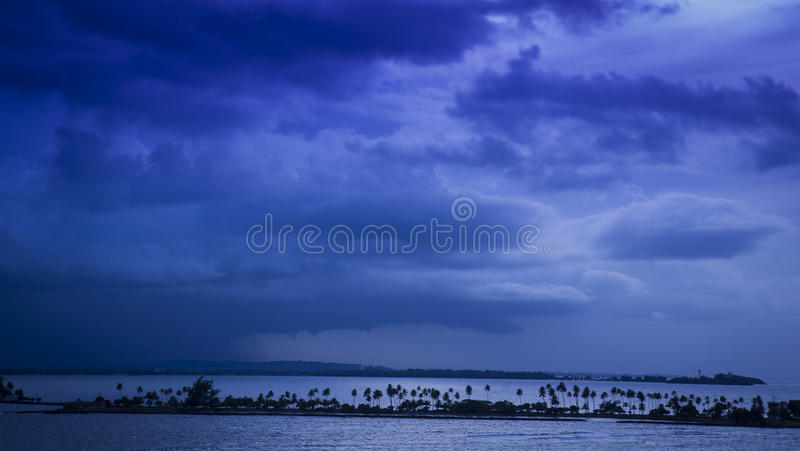Over the bay of San Juan stock photography