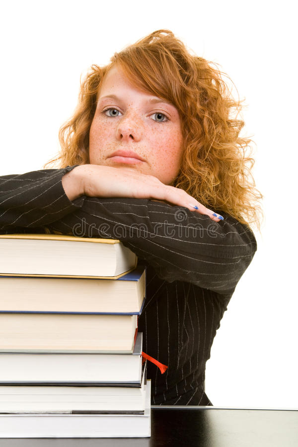 Over books stock image