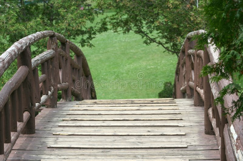 Download Over the Bridge stock photo. Image of downhill, railing - 146330