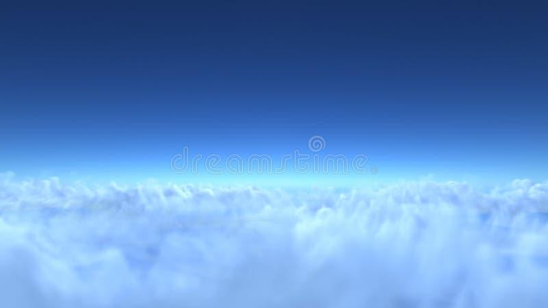 Over clouds, 3d render