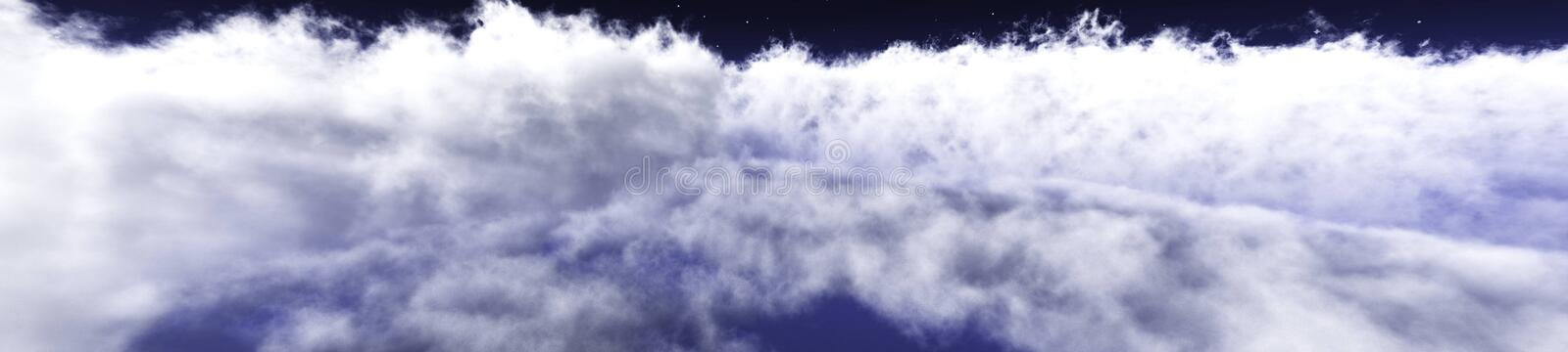 Over the clouds environment map. In the clouds, the sun in clouds, over the clouds environment map stock images