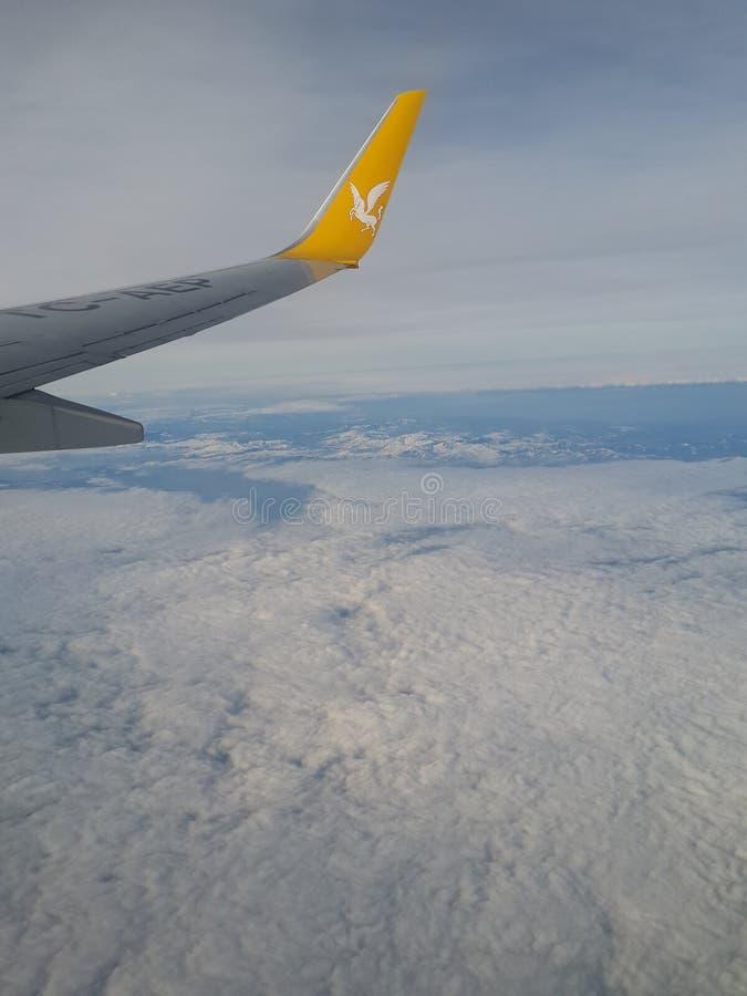 Over de Sneeuwbergen stock afbeelding
