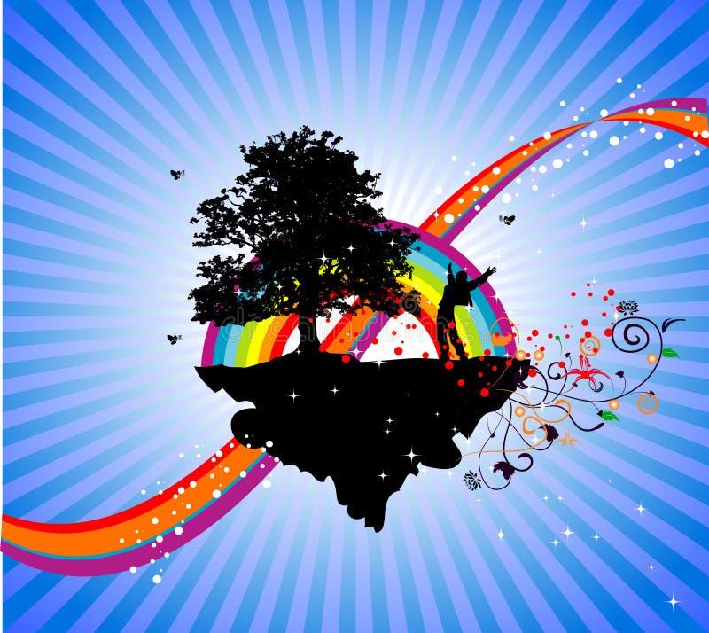 Over het regenboogsucces royalty-vrije illustratie
