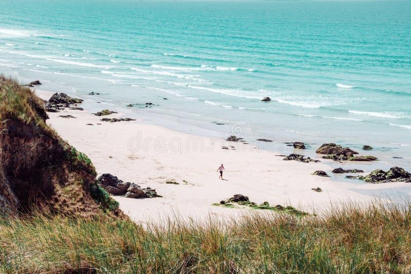 Over het strand in Hayle royalty-vrije stock foto