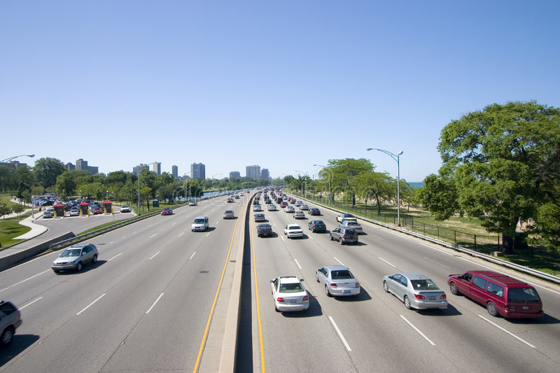 Download Over the Highway stock photo. Image of post, foliage, congestion - 1785428