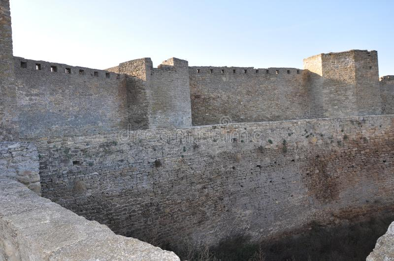 Panorama Fortress Akkerman, photo tour of the Belgorod-Dnestrovsky fortress. Over its time, the city of Belgorod-Dnestrovsky has changed more than a dozen names royalty free stock photo