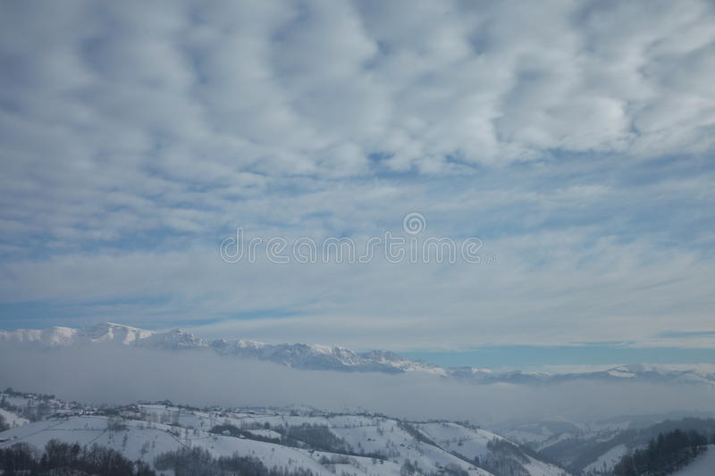 Over the misty mountains royalty free stock photo