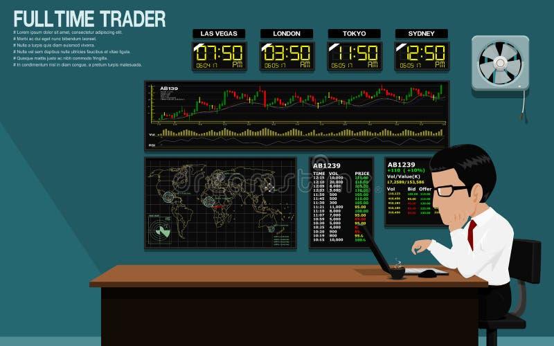 Over Night Trader stock illustration