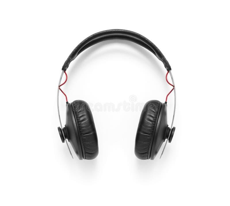 Over--oorhoofdtelefoons stock afbeelding