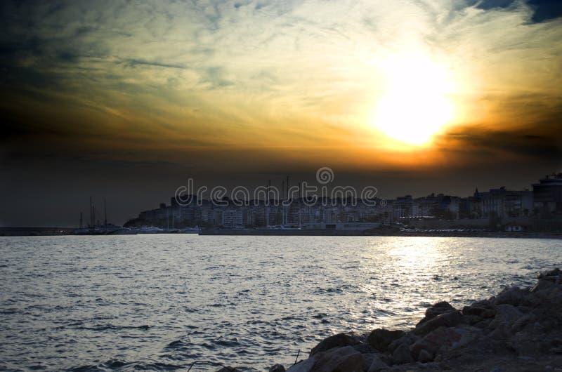 Over Piraeus stock foto's