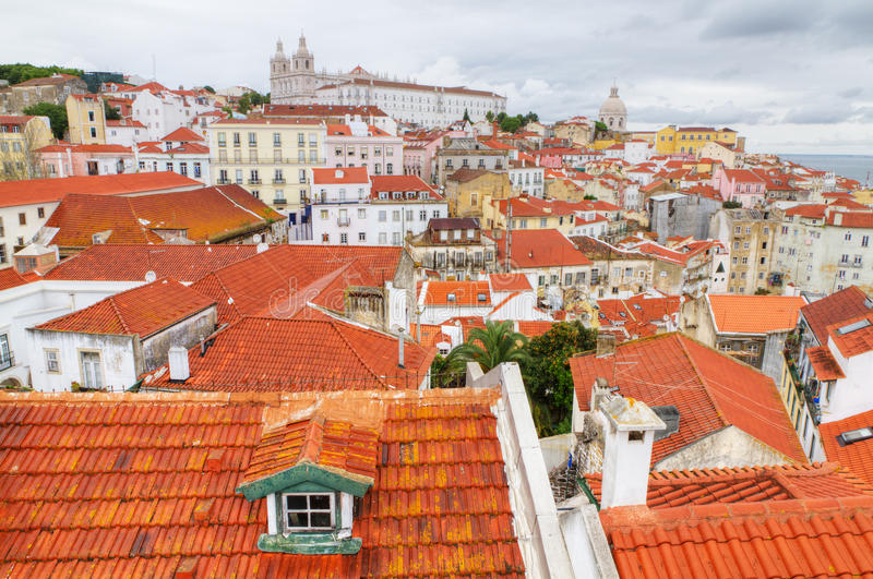 Awesome Download Over The Red Roofs Of Lisboa, Portugal Stock Image   Image:  21104063