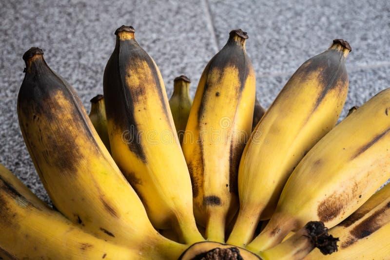 Over rijpe banaan stock afbeeldingen