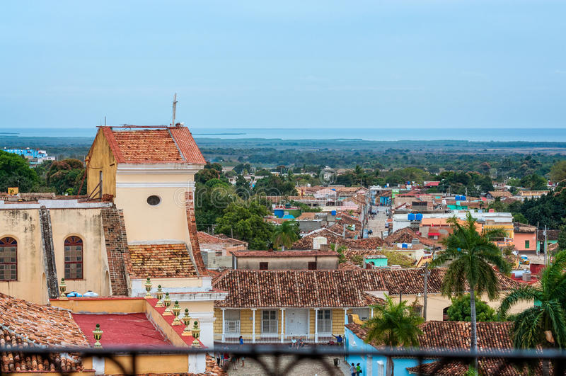 Over the roofs of Trinidad royalty free stock images