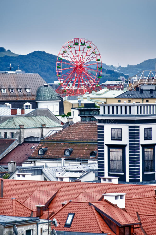 Free Over The Roofs Of Linz Royalty Free Stock Photography - 17635007