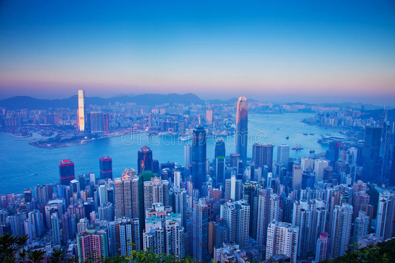Download Over view of Hongkong stock image. Image of finance, beautiful - 22555241