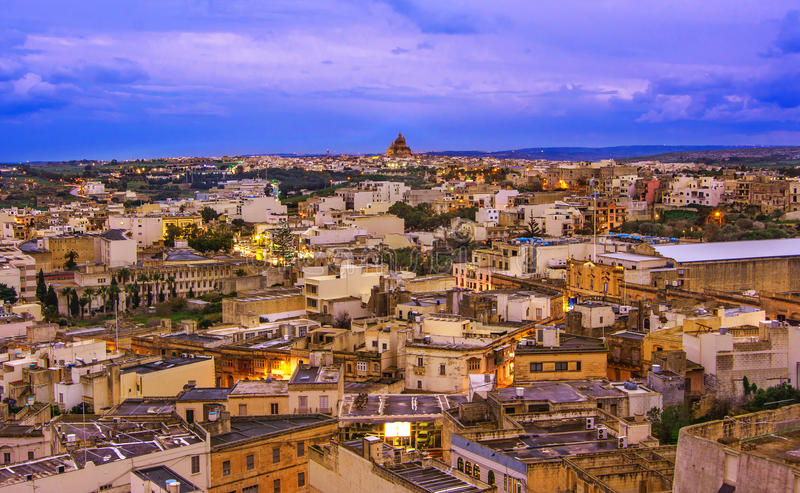 Over view of Victoria city, Gozo, Malta royalty free stock photos