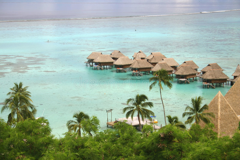 Over water bungalows royalty free stock photography