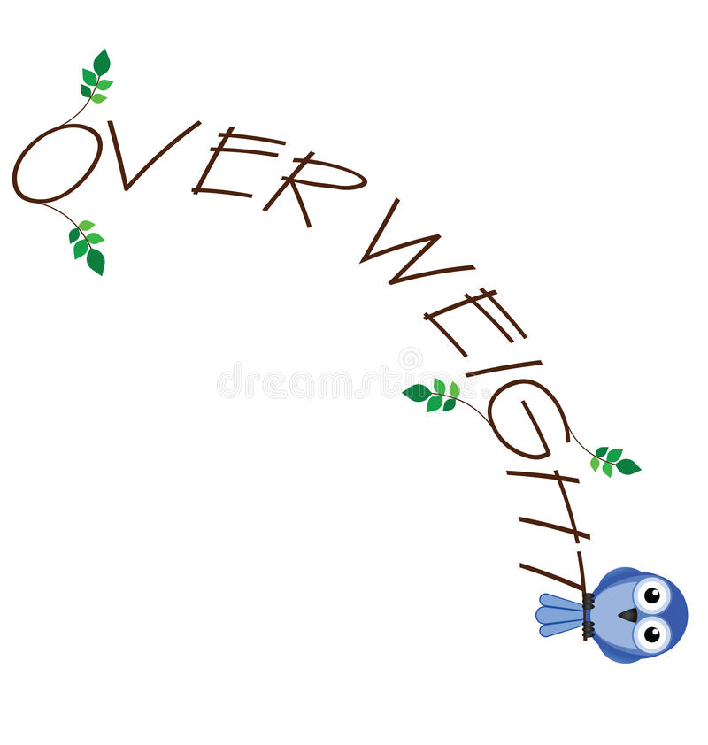 Download Over weight stock vector. Image of stick, obese, tubby - 25120008