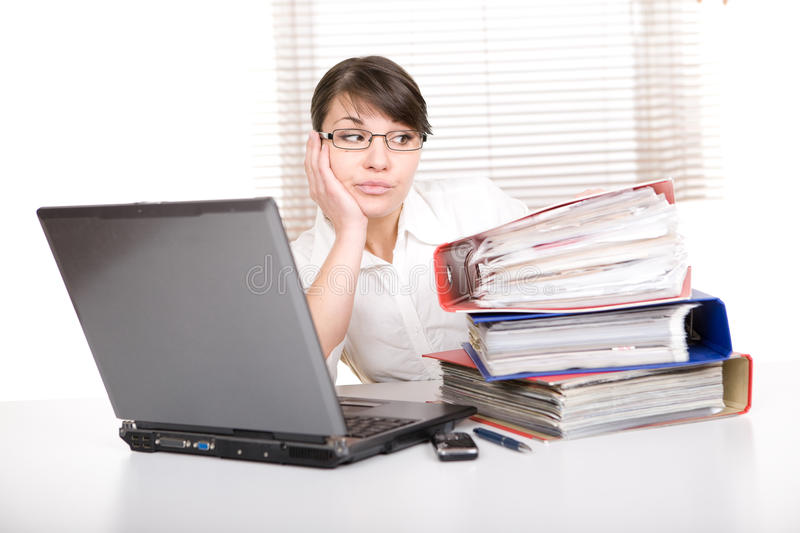 Download Over-worked stock photo. Image of computer, girl, overload - 18721614