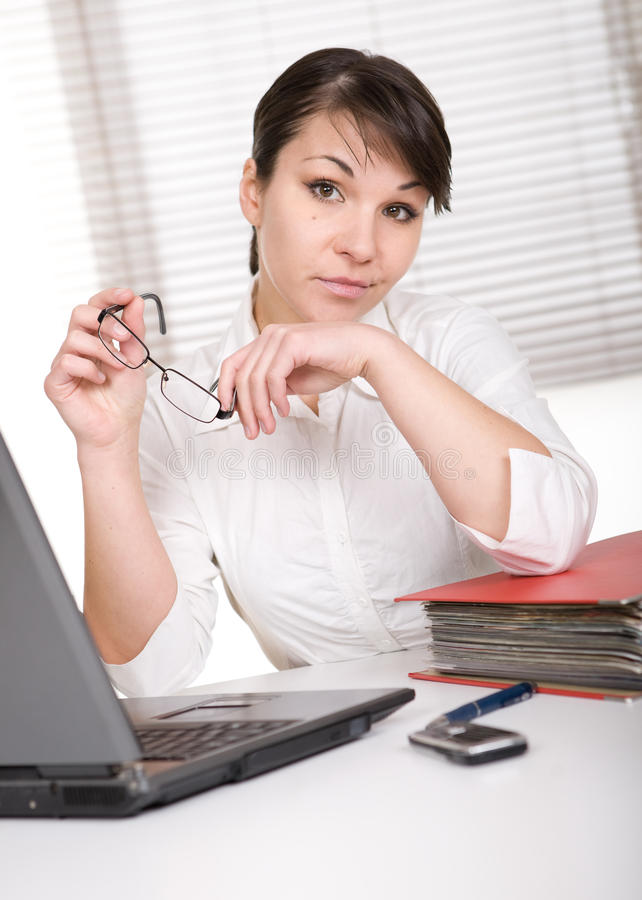 Download Over-worked stock image. Image of businesswoman, folder - 18721637