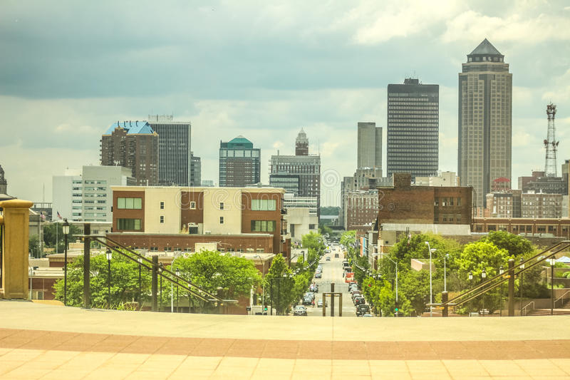 Overall: Des Moines. A view of downtown Des Moines, Iowa royalty free stock photography