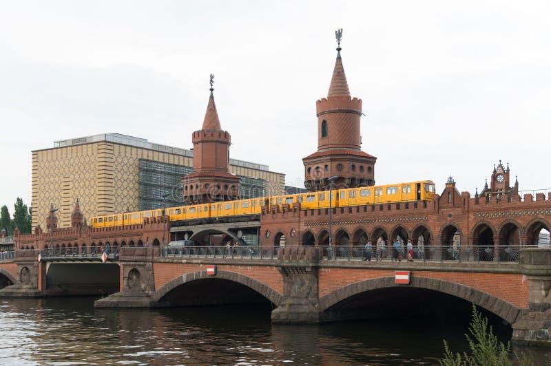 Overbaumbrug in Berlijn royalty-vrije stock afbeelding