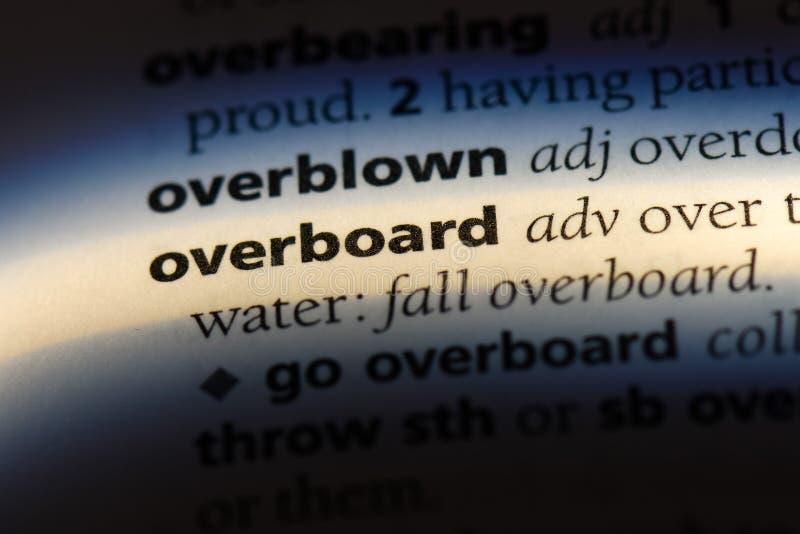 overboard fotografia stock