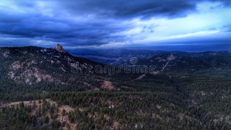 Overcast Колорадо стоковое фото