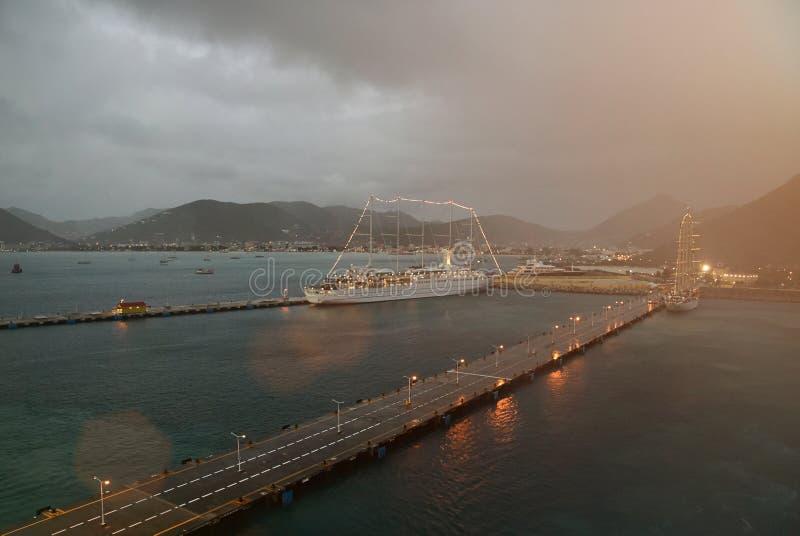 Overcast на порте яхты стоковое изображение