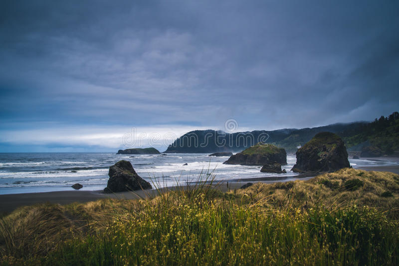 Overcast day on the coast. stock image