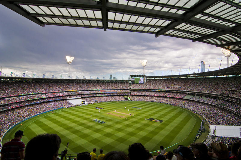 Overcast day view at Melbourne Cricket Ground royalty free stock photos