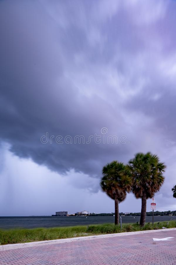 Overcast from Hurricane Dorian in Miami FL USA September 2019. Overcast from Hurricane Dorian in Miami FL USA September stock photography