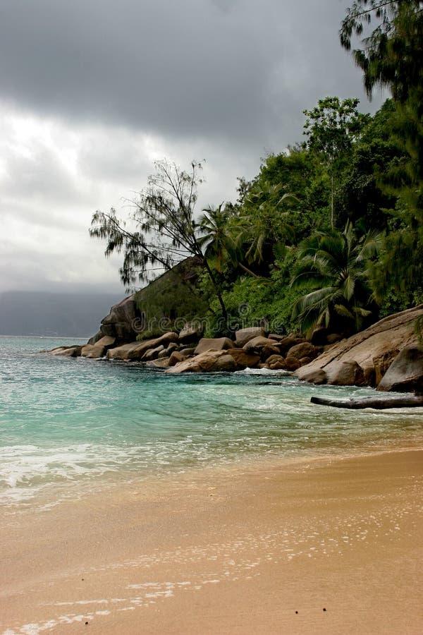 Overcast Island royalty free stock photo
