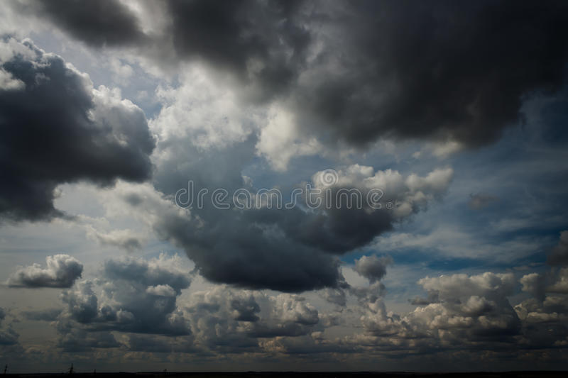 Overcast sky. The overcast sky with gray clouds stock images