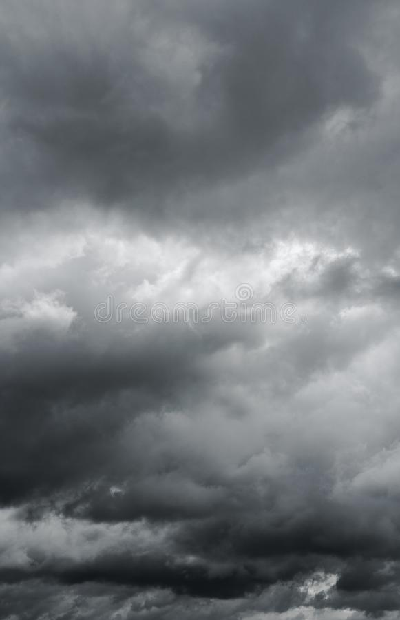Overcast sky, beautiful majestic thunder clouds. royalty free stock photo